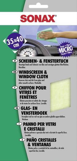 Utěrka na leštění skla Sonax, 416700 - Sonax Čistící utěrka na okna z mikrovlákna a kůže 35 x 40 cm - Sonax Čistící utěrka na okna z mikrovlákna a kůže 35 x 40 cm