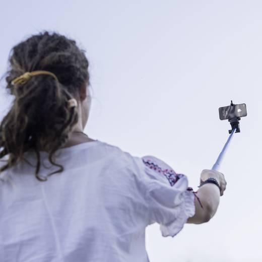 Selfie Stick Mantona Handstativ 8 cm 1/4 Zoll Blau inkl. Handschlaufe