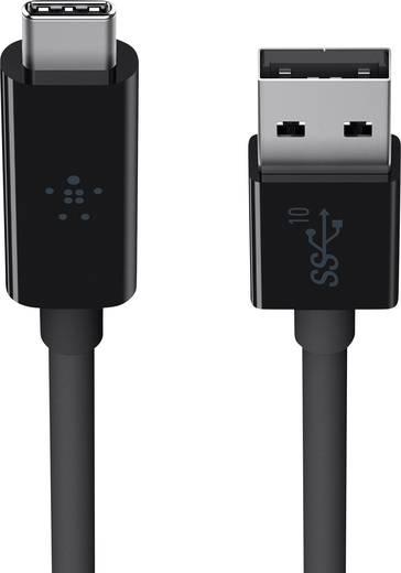 Belkin USB 3.1 Kabel [1x USB 3.0 Stecker A - 1x USB-C™ Stecker] 1 m Schwarz Flammwidrig
