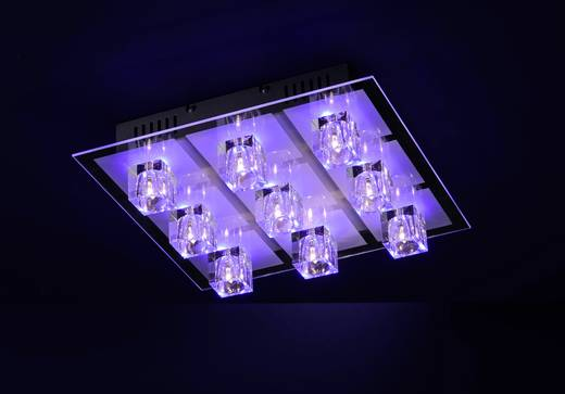 Deckenleuchte LED G4, LED fest eingebaut 129.24 W LeuchtenDirekt Oki 50385-17 Chrom