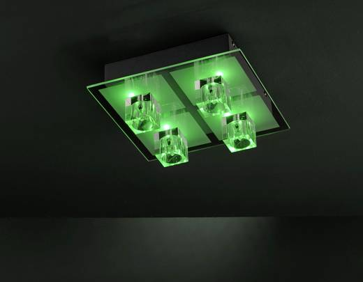 Deckenleuchte LED G4, LED fest eingebaut 57.44 W LeuchtenDirekt Oki 50285-17 Chrom