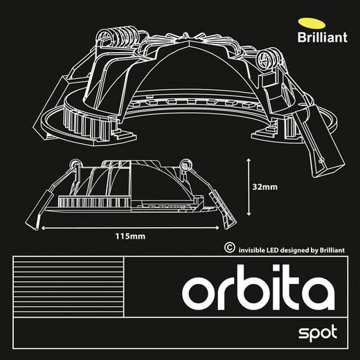 Brilliant Orbita G94665A75 LED-Einbauleuchte 3er Set 12 W Warm-Weiß Weiß