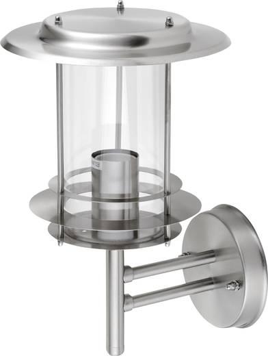 LeuchtenDirekt Micro 19461-55 Außenwandleuchte Energiesparlampe, LED E27 60 W Stahl