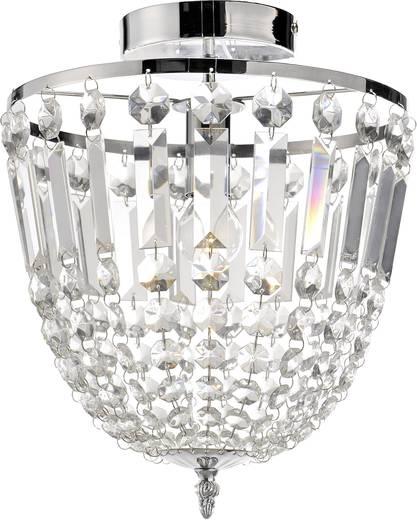 Kronleuchter LED E14 40 W LeuchtenDirekt Kamea Chrom