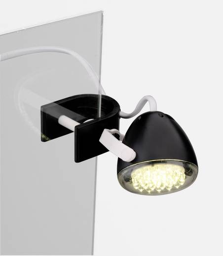 LED-Klemmleuchte 2 W Kalt-Weiß LeuchtenDirekt Podgy 13073-18 Schwarz