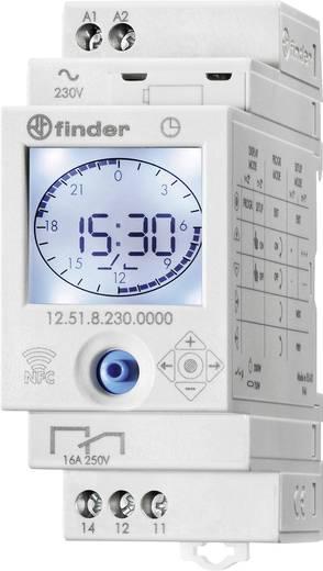 Zeitschaltuhr für Hutschiene Betriebsspannung: 230 V/AC Finder 12.51.8.230.0000 1 Wechsler 16 A 250 V/AC Tagesprogramm,
