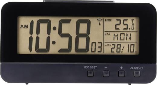 Renkforce KW-9281 Funk Wecker Schwarz Alarmzeiten 1