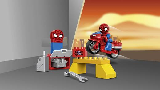 lego duplo 10607 spider man motorrad werkstatt kaufen. Black Bedroom Furniture Sets. Home Design Ideas