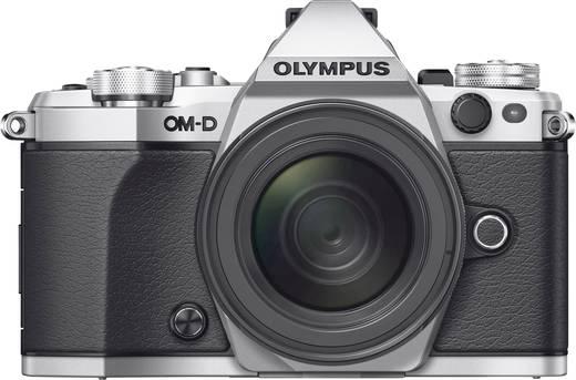 Systemkamera Olympus E-M5 Mark II M 12-50 mm 16.1 Mio. Pixel Silber Frostbeständig, Staubgeschützt, Spritzwassergeschüt