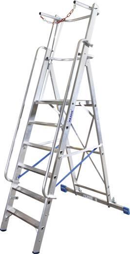 Aluminium Stufen-Stehleiter Arbeitshöhe (max.): 3.4 m Krause Stabilo® Professional 127501 Silber 20 kg