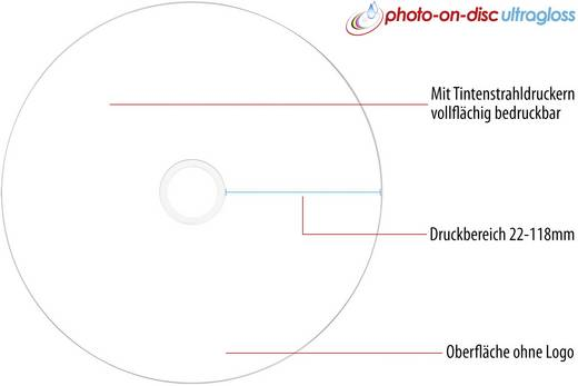 CD-R 80 Rohling 700 MB Primeon 2761109 50 St. Spindel Bedruckbar, Hochglanz Oberfläche, Wasserfest, Wischfest