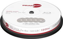 Image of Blu-ray BD-R DL Rohling 50 GB Primeon 2761311 10 St. Spindel Antikratzbeschichtung