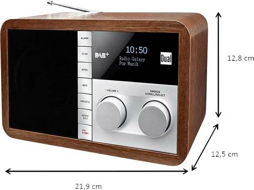 dab tischradio dual dab 32 aux dab ukw holz. Black Bedroom Furniture Sets. Home Design Ideas