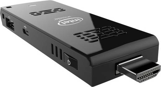 Intel Compute Stick BOXSTCK1A32WFCL Mini-PC-Stick Intel® Atom® Z3735F (4 x 1.83 GHz) 2 GB 32 GB Windows® 10