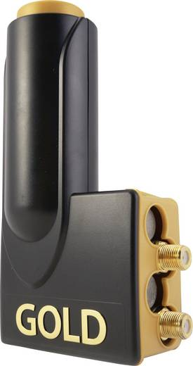 twin lnb microelectronic 220015 teilnehmer anzahl 2 feedaufnahme 40 mm vergoldete anschl sse. Black Bedroom Furniture Sets. Home Design Ideas