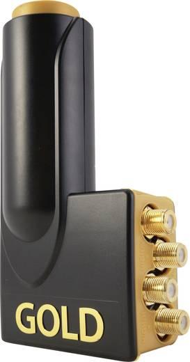 Microelectronic 230012 Quattro-LNB Teilnehmer-Anzahl: 4 Feedaufnahme: 40 mm vergoldete Anschlüsse