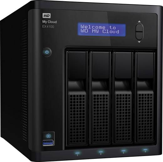 Western Digital My Cloud™-Profiserie EX4100 WDBWZE0000NBK-EESN 4 Bay
