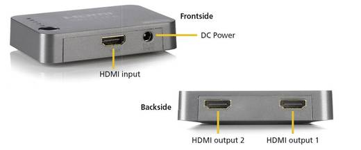 2 Port HDMI-Splitter Marmitek Split 312 3D-Wiedergabe möglich 3840 x 2160 Pixel Silber