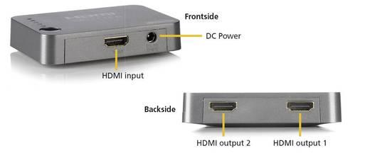 Marmitek Split 312 2 Port HDMI-Splitter 3D-Wiedergabe möglich 3840 x 2160 Pixel Silber