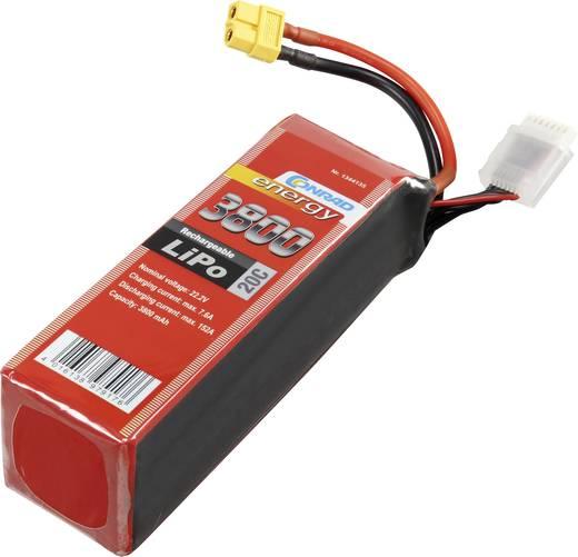 Conrad energy Modellbau-Akkupack (LiPo) 22.2 V 3800 mAh Zellen-Zahl: 6 20 C Stick XT60