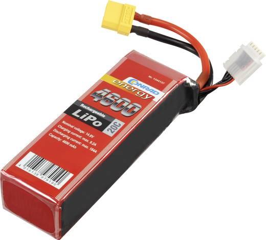 Conrad energy Modellbau-Akkupack (LiPo) 14.8 V 4600 mAh Zellen-Zahl: 4 20 C Stick XT90