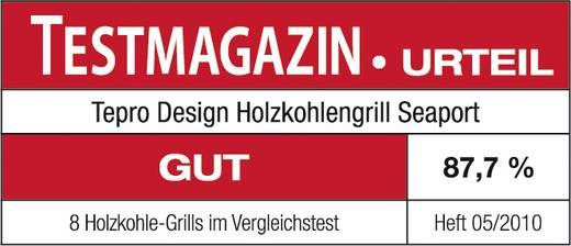 tepro Garten Seaport Stand Holzkohle-Grill Schwarz