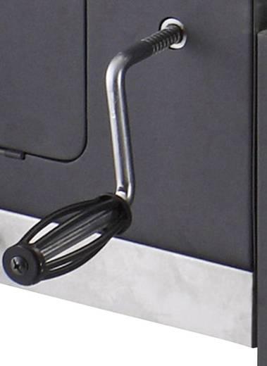 tepro Garten Toronto XXL Grillwagen Holzkohle-Grill Thermometer im Deckel Schwarz, Edelstahl