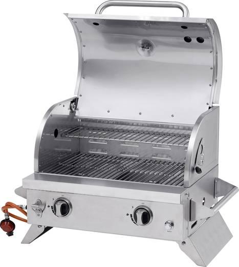 tisch gas grill tepro garten cleveland 2 brenner thermometer im deckel edelstahl kaufen. Black Bedroom Furniture Sets. Home Design Ideas