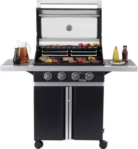 grillwagen gas grill tepro garten glassboro 4 brenner thermometer im deckel schwarz silber. Black Bedroom Furniture Sets. Home Design Ideas