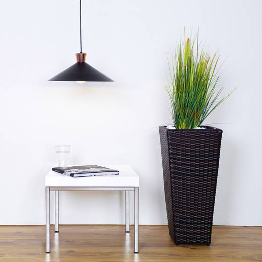 Pendelleuchte Energiesparlampe E27 60 W Brilliant Mayfair 93460/76 Schwarz, Kupfer