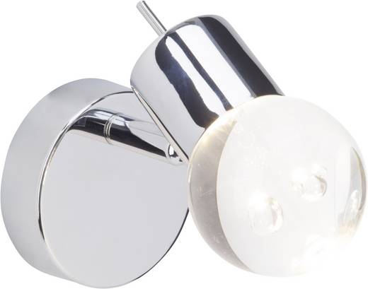 LED-Wandstrahler 4.6 W Warm-Weiß Brilliant Lastra G38110/15 Chrom