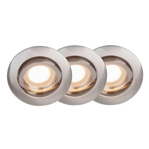 Einbauleuchte 3er Set LED GU10 15 W Brilliant G94650/13 Easy Clip Eisen