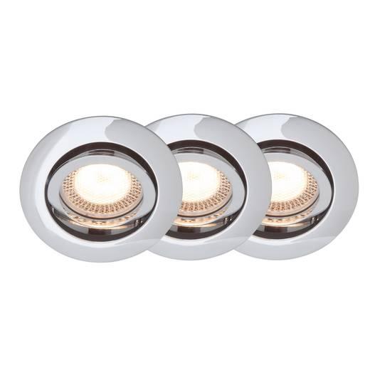 Einbauleuchte 3er Set LED GU10 15 W Brilliant G94650/15 Easy Clip Chrom