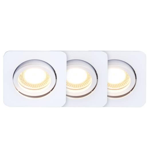 Einbauleuchte 3er Set LED GU10 15 W Brilliant G94652/05 Easy Clip Weiß