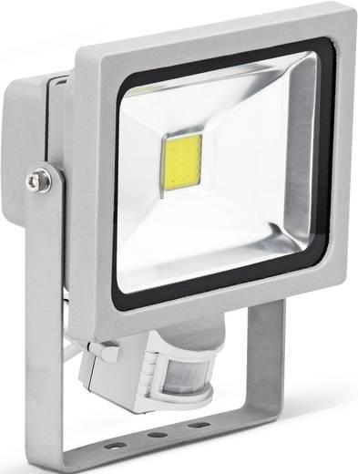Brilliant Riad G96214/11 LED-Außenstrahler mit Bewegungsmelder 20 W Kalt-Weiß Titan
