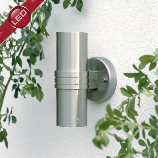 Außenwandleuchte Energiesparlampe, LED GU10 6 W Brilliant Hanni G96230/82 Edelstahl