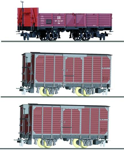 Tillig H0 5971 H0e 3er-Set Güterwagen der DR