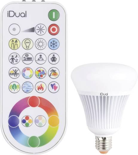 JEDI Lighting LED E27 Globeform 16 W = 75 W RGBW (Ø x L) 100 mm x 138 mm EEK: A dimmbar, colorchanging 1 St.