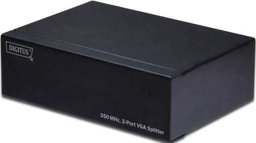 Digitus Professional DS-41100 2 Port VGA-Splitter einzeln schaltbar, mit Status-LEDs, Metallgehäuse 2048 x 1536 Pixel Sc