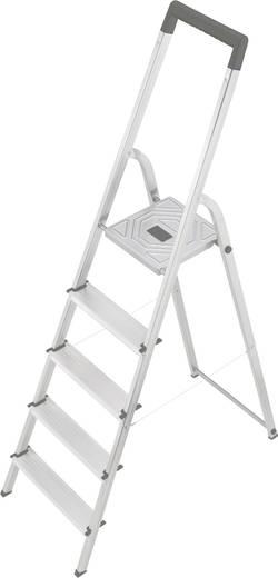 Hailo S 150 8925-321 Aluminium Stufen-Stehleiter Arbeitshöhe (max.): 2.8 m Silber 4.6 kg