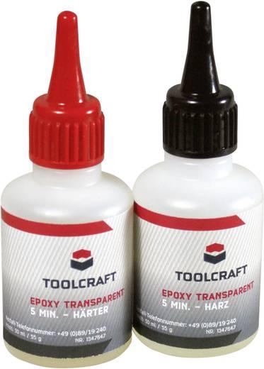 TOOLCRAFT 1347647 Epoxy transparent 5 Min. 1 Set