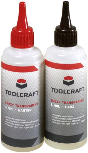 TOOLCRAFT 1347649 Epoxy transparent 5 1 Set