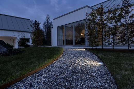 LED-Außeneinbauleuchte 3 W Warm-Weiß Konstsmide 7966-310 7966-310 Silber