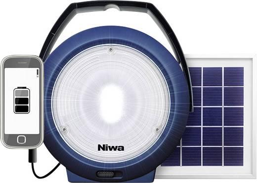 LED Camping-Leuchte NIWA Multi 300 XL 300 lm solarbetrieben, über USB Blau 350093
