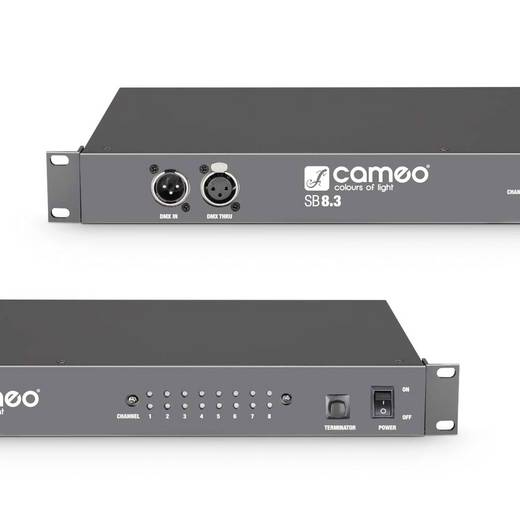 Cameo CLSB83 DMX Splitter 8-Kanal 19 Zoll-Bauform