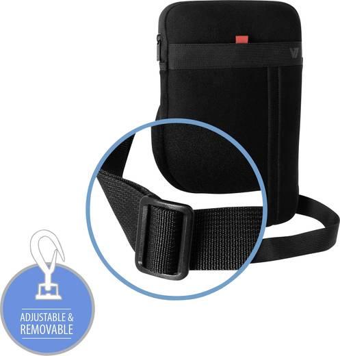 """V7 Videoseven Sleeve Tablet Tasche, universal Passend für Display-Größe (Bereich): 30,5 cm (12"""") Schwarz/Rot"""