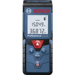 Laserový diaľkomer Bosch Professional GLM 40 0601072900, max. rozsah 40 m, Kalibrované podľa (ISO)