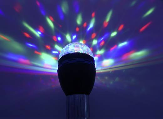 LED Party-Leuchtmittel Renkforce E27 PARTYLAMP 1 W Multi-Color Anzahl Leuchtmittel: 3