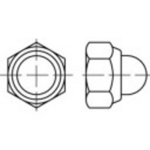 Sechskant-Hutmuttern M16 DIN 986 Stahl galvanisch verzinkt 50 St. TOOLCRAFT 135419