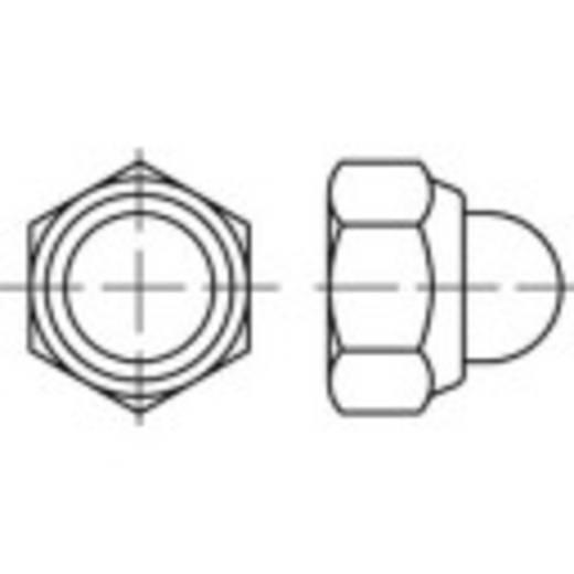 Sechskant-Hutmuttern M4 DIN 986 Stahl galvanisch verzinkt 100 St. TOOLCRAFT 135413